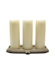 Smart Flame 360° Echtwachskerzen 3er-Set (inkl. Netzteil und Ladestation)