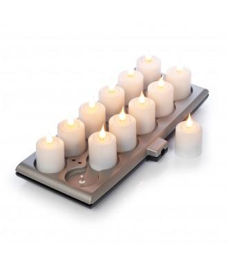 Smart Flame Tischlichter-Set fernbedienbar (inkl. Netzteil und Ladestation)