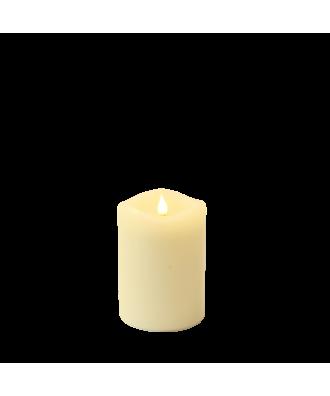 3er Set Smart Flame LED Echtwachskerze Elfenbein mit Fernbedienung