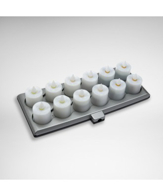 Platinum Tischlichter-Set fernbedienbar (inkl. Netzteil und Ladestation)