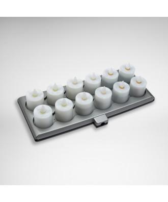 Evolution Tischlichter-Set (inkl. Netzteil und Ladestation, optional mit ALARM-Funktion)