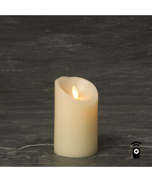 Luminara LED Echtwachskerze Elfenbein 8cm Durchmesser